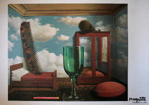 Magritte poster, Personal Values, 1952