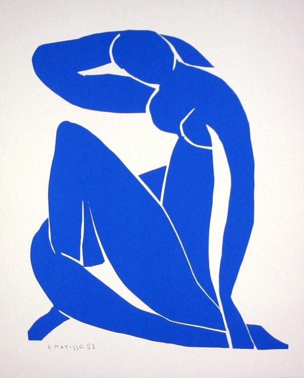 Souvent Henri MATISSE : Nu Bleu II, 1952 : Sérigraphie d'après une gouache  YN58