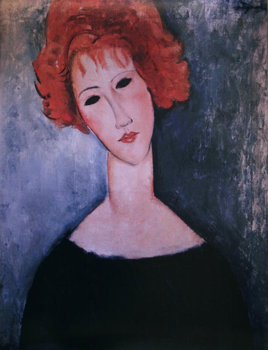 Amedeo Modigliani poster print, Red-headed woman, 1918