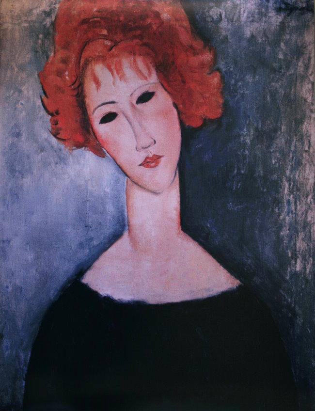 Amedeo Modigliani poster : Red-headed woman, 1918, 60 x 80 cm