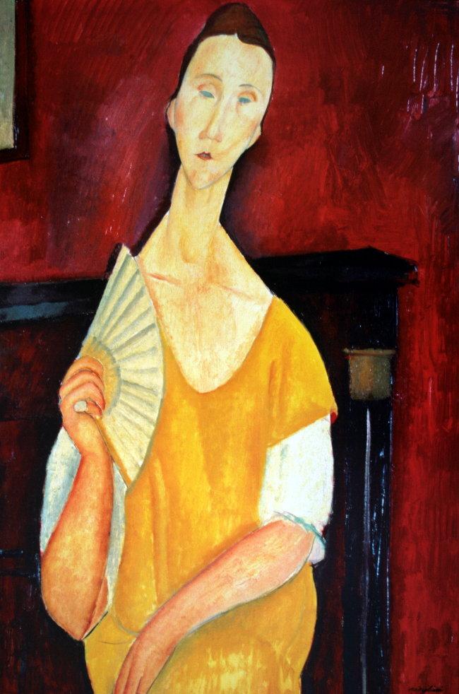 La peinture - Page 7 Modiglianifemmealeventail