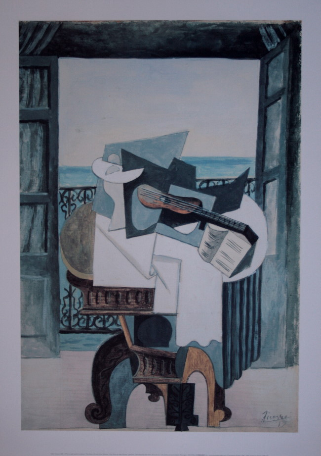 Pablo picasso la table devant la fen tre 1919 50 x 70 for Devant la fenetre