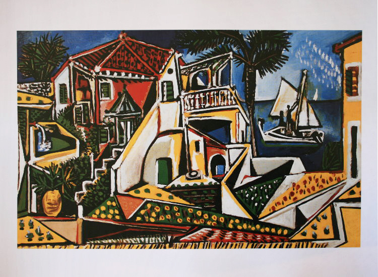 pablo picasso paysage m diterran en 1952 80 x 60 cm. Black Bedroom Furniture Sets. Home Design Ideas