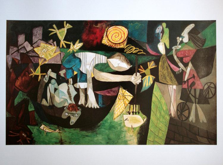 Pablo picasso pesca nocturna en antibes 1939 80 x 60 for Deco boite de nuit