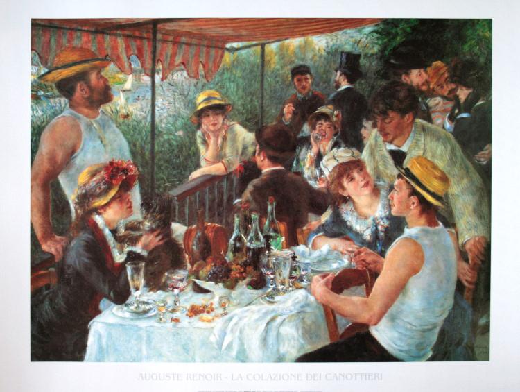 pierre auguste renoir la colazione dei canottieri 1881 stampa d 39 arte 80 x 60 cm. Black Bedroom Furniture Sets. Home Design Ideas