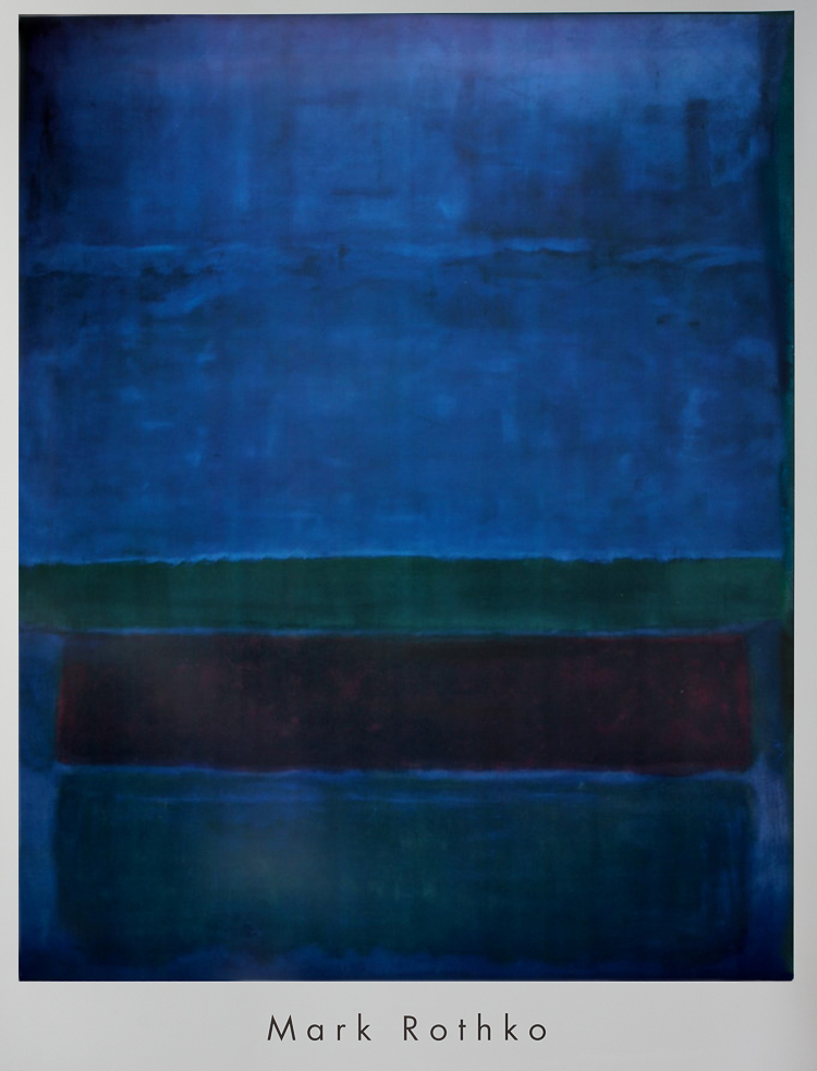 Mark Rothko Blue Green And Brown 1951 Reproduction