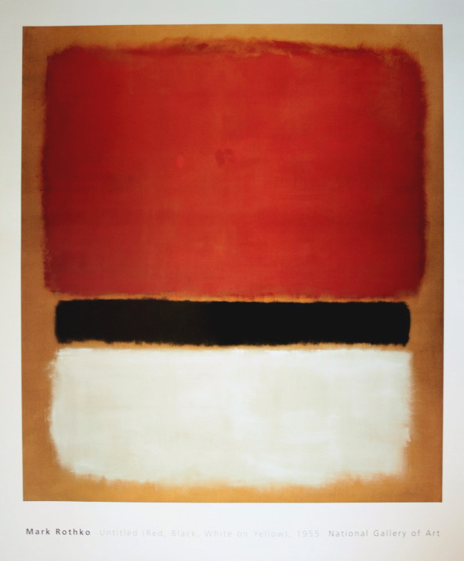 mark rothko red black white on yellow rothko posters