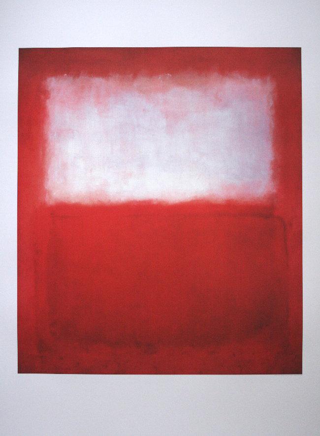 Mark Rothko White Over Red Reproduction Fine Art