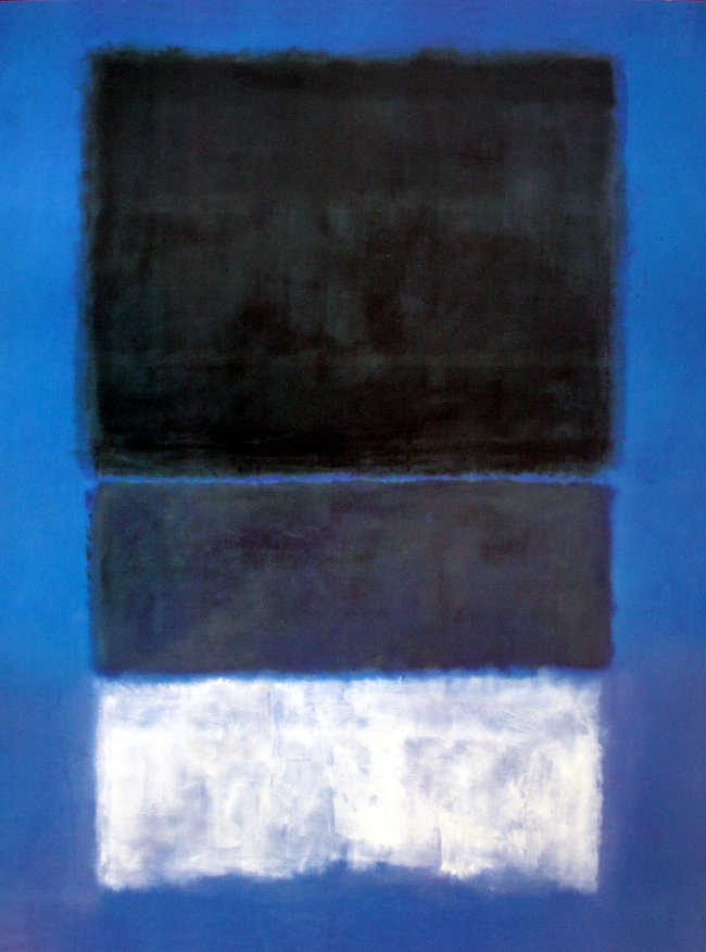 Mark ROTHKO : n°14 : White and greens in blue ...