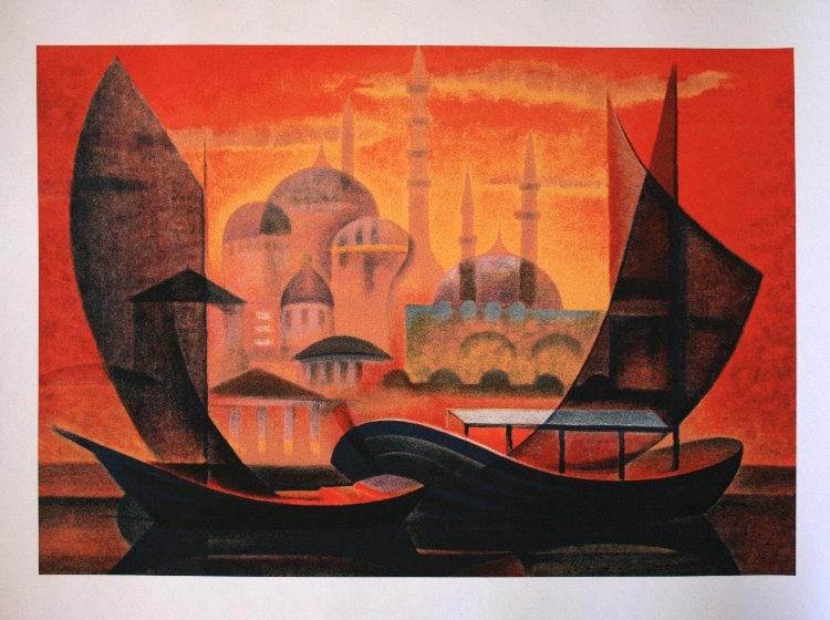 Louis TOFFOLI : Istambul : Reproduction, Fine Art print ...