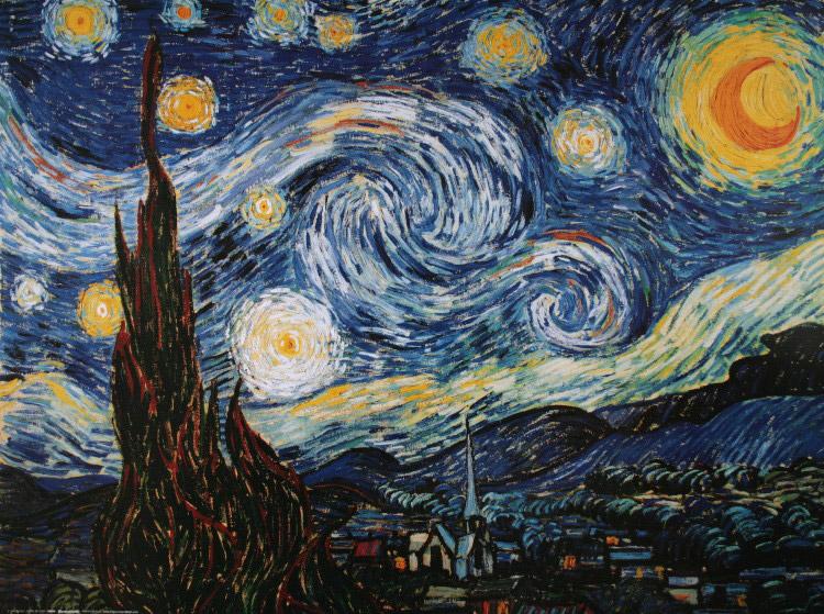 Vincent van gogh notte stellata 1889 riproduzione for La notte stellata vincent van gogh