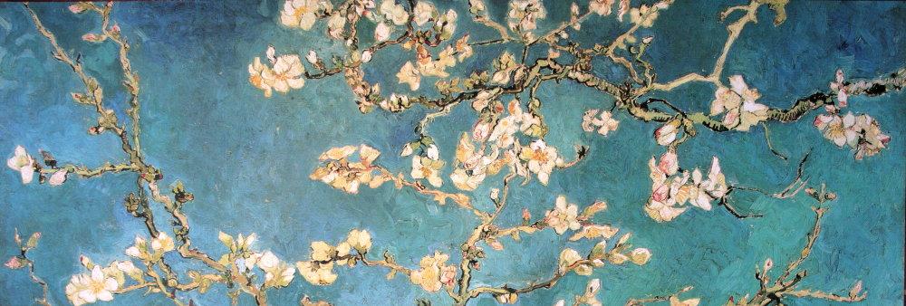 Vincent VAN GOGH : Rama de almendro en flor, 1890 : Reproducción ...