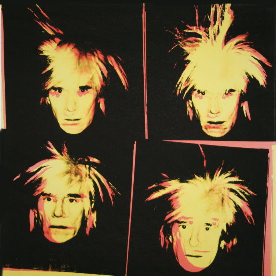 Stampa Andy Warhol, 4 Yellow Andys, 1986