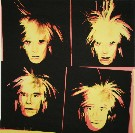 Andy Warhol : 4 Yellow Andys, 1986