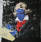 Andy Warhol : Beethoven (Blue face), 1987