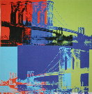 Andy Warhol : Brooklyn Bridge (Orange, Blue, Lime), 1983
