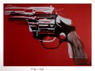 Andy Warhol : Gun (on red), 1981-82