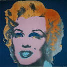Andy Warhol : Marilyn Monroe (On peacock blue, pink face), 1967
