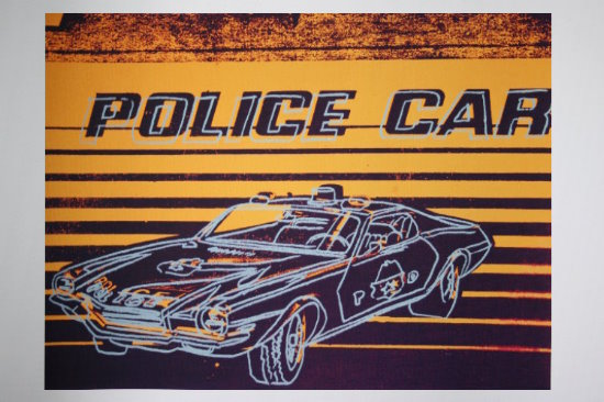 Andy Warhol poster print, Police car, 1983