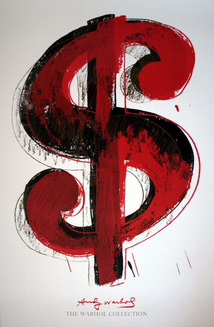 Andy Warhol Poster Dollar Sign Reproduction Fine Art Print