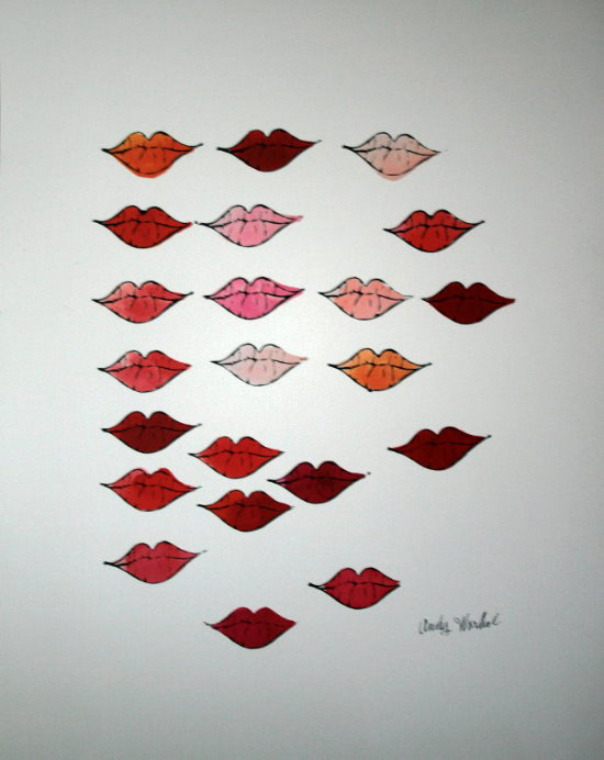 andy warhol poster lips 1959
