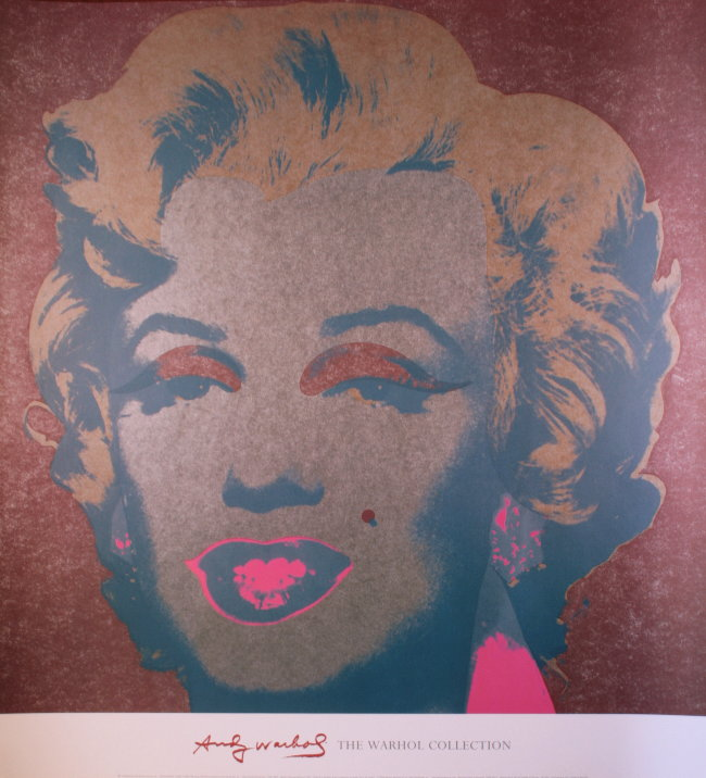 andy warhol poster marilyn monroe silver 1967 reproduction