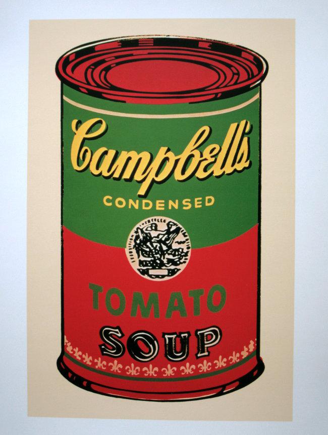 Stampa andy warhol barattolo di zuppa campbell verde e for Barattoli di zuppa campbell s