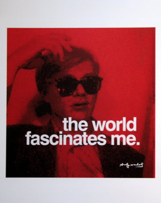 Stampa Andy Warhol, The world fascinates me