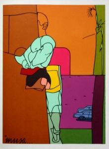 Valerio ADAMI : Lithographie Musa, 1976