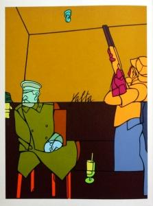 Valerio ADAMI : Lithographie Yalta, 1976