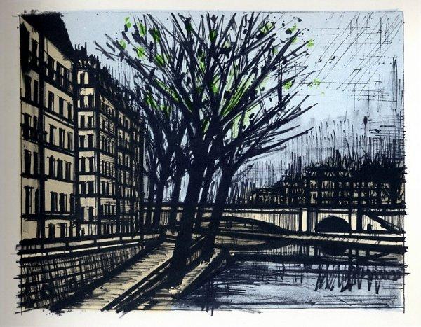 Bernard buffet reproduction en lithographie de 1967 paris l 39 le saint louis - Magasin reproduction tableau paris ...