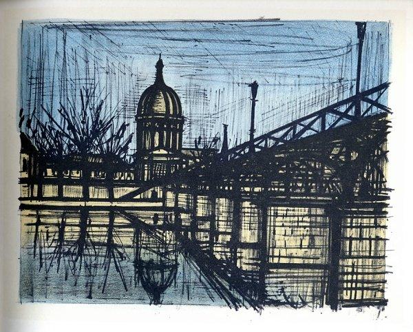 Bernard buffet lithograph reproduction paris le pont for Bernard buffet cote