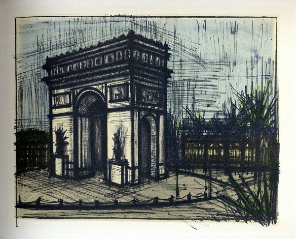 Magnificent Bernard Buffet Lithograph Reproduction Paris Larc De Download Free Architecture Designs Remcamadebymaigaardcom