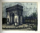 Bernard BUFFET : Paris L'Arc de Triomphe