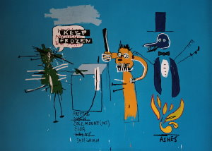 Affiche Basquiat, The dingoes that park their brains with their gum, 1988