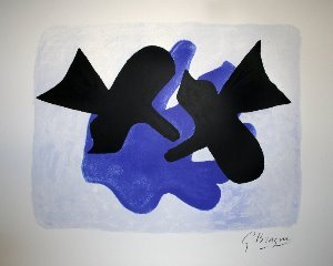 Georges Braque serigraph, Pelias and Nelee, 1958