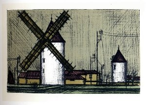 Reproduction Bernard Buffet, Moulin à vent