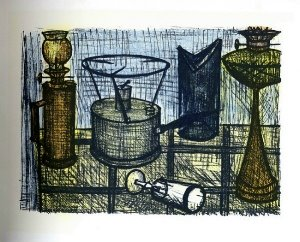 Reproduction Bernard Buffet, La lampe à huile