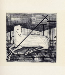 Reproduction Bernard Buffet, L'agneau pascal