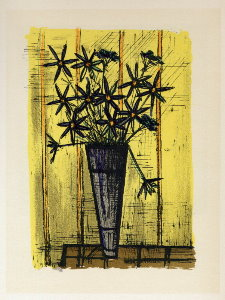 Reproduction Bernard Buffet, Bouquet de Fleurs