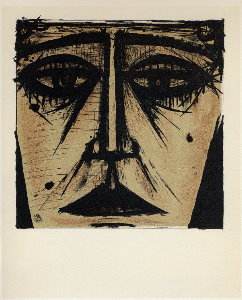 Reproduction Bernard Buffet, Visage