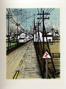 Reproduction Bernard Buffet, La route