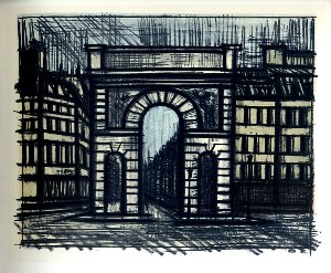 Reproduction Bernard Buffet, Paris : La porte Saint-Martin