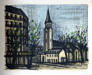 Reproduction Bernard Buffet, Paris : Saint-Germain-des-Près