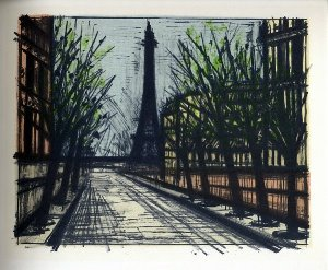 Reproduction Bernard Buffet, Paris : La tour Eiffel