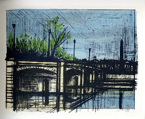 Reproduction Bernard Buffet, Paris : Le Pont de la Concorde