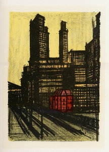 Reproduction Bernard Buffet, New York I