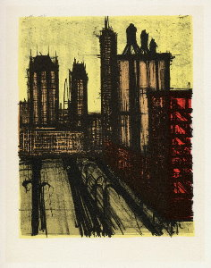 Reproduction Bernard Buffet, New York V