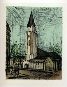 Reproduction Bernard Buffet, Saint-Germain-des-Près