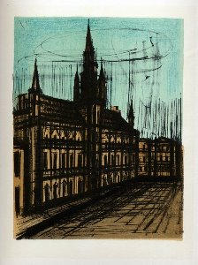 Reproduction Bernard Buffet, Bruxelles : hôtel de ville